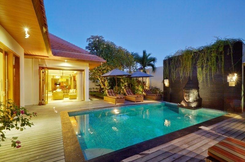 Pool at Night - Villa Seriska Dua Sanur - Sanur, Bali