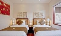 Twin Bedroom - Villa Seriska Dua Sanur- Sanur, Bali
