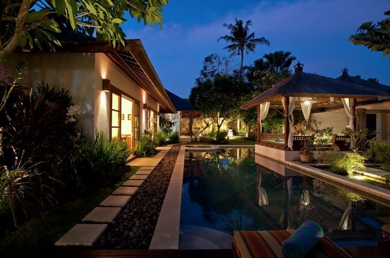 Pool at Night - Villa Seriska Satu Sanur - Sanur, Bali