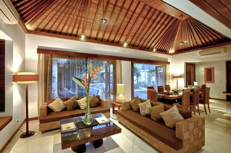 Indoor Living and Dining Area - Villa Seriska Satu Sanur - Sanur, Bali