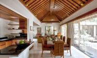 Indoor Kitchen and Dining Area - Villa Seriska Satu Sanur - Sanur, Bali