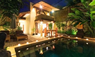 Pool at Night - Villa Seriska Seminyak - Seminyak, Bali