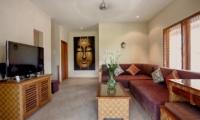 Lounge Area with TV - Villa Seriska Seminyak - Seminyak, Bali