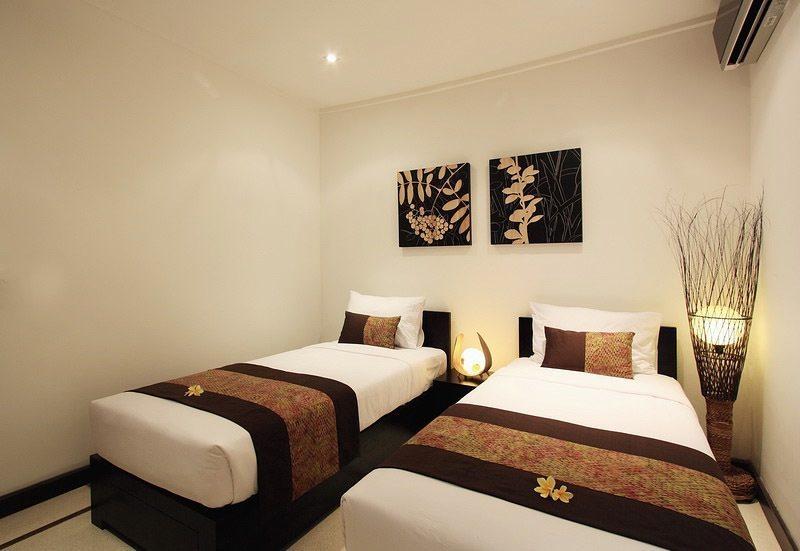 Twin Bedroom - Villa Sesari - Seminyak, Bali