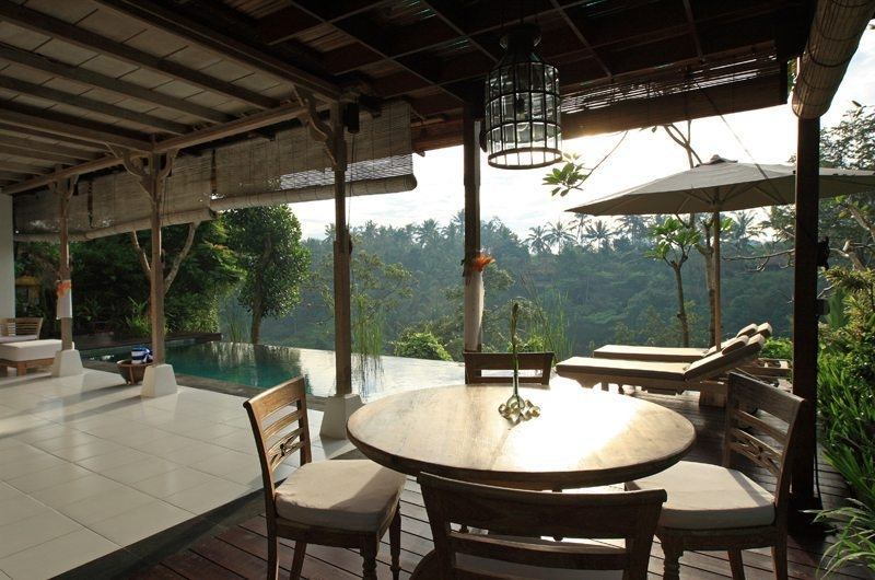Pool Side Dining - Villa Shamballa - Ubud, Bali