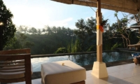 Pool Side Seating Area - Villa Shamballa - Ubud, Bali