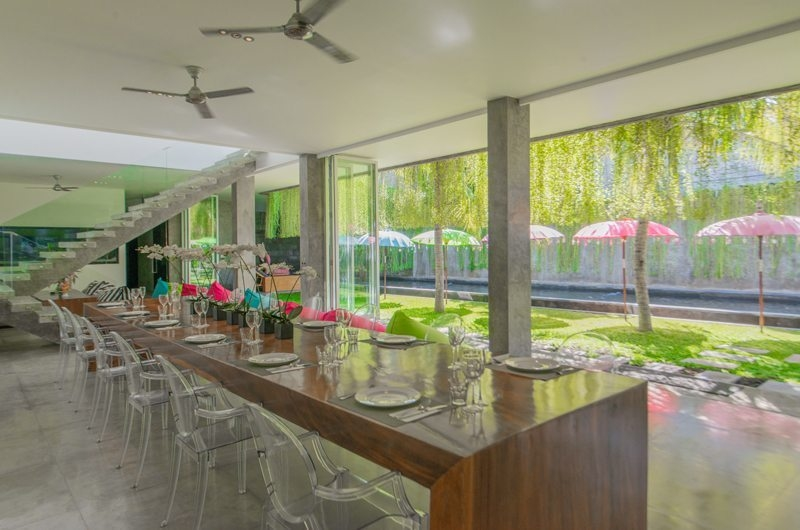 Dining Area with Pool View - Villa Simpatico - Seminyak, Bali