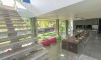 Kitchen and Dining Area with Up Stairs - Villa Simpatico - Seminyak, Bali