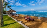 Outdoor Dining Area with Sea View - Villa Stella - Candidasa, Bali