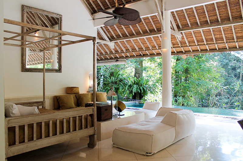 Living Area with Pool View - Villa Sungai Bali - Tabanan, Bali