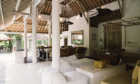 Living and Dining Area with Garden View - Villa Sungai Bali - Tabanan, Bali