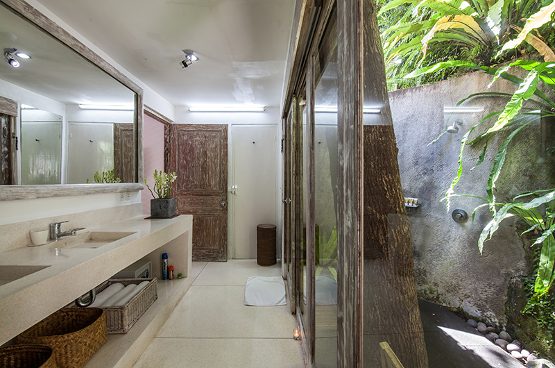 Bathroom with View - Villa Sungai Bali - Tabanan, Bali