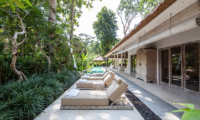 Pool Side Loungers - Villa Sungai Bali - Tabanan, Bali