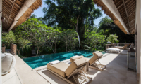 Pool Side Sun Loungers - Villa Sungai Bali - Tabanan, Bali