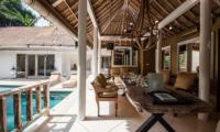 Pool Side Dining - Villa Sungai Bali - Tabanan, Bali
