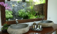 His and Hers Bathroom with Mirror - Villa Tempat Damai - Canggu, Bali
