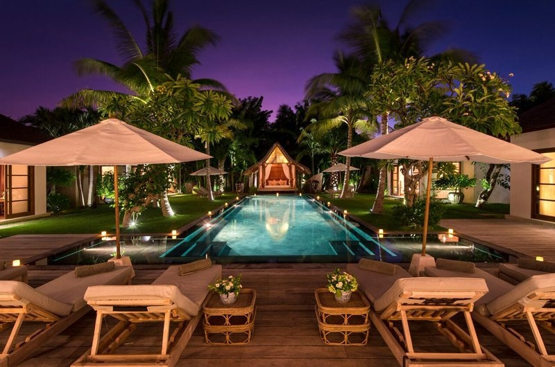 Pool at Night - Villa Tiga Puluh - Seminyak, Bali