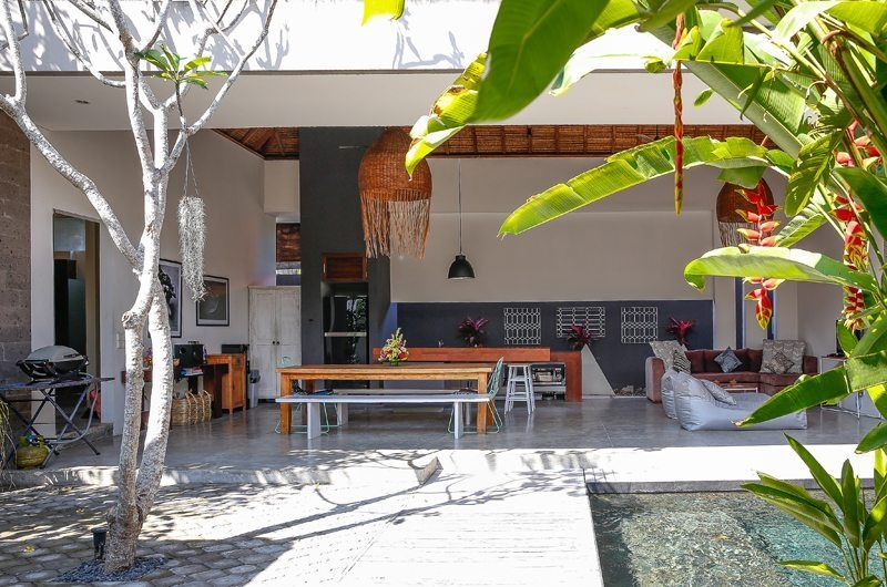 Living and Dining Area with View - Villa Turtle - Seminyak, Bali