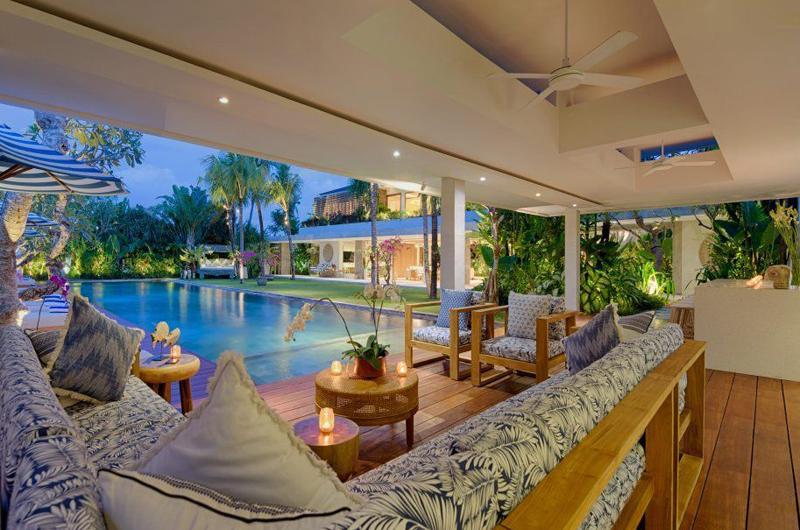 Pool Side Seating Area - Villa Zambala - Canggu, Bali