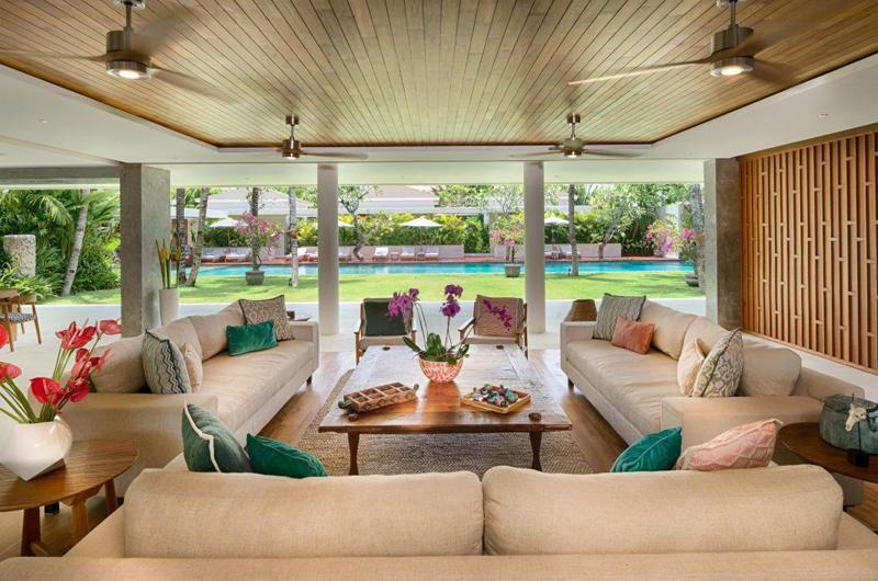 Living Area with Pool View - Villa Zambala - Canggu, Bali