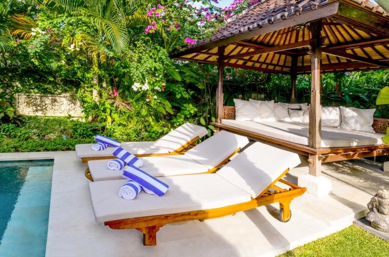 Pool Side Loungers - Vitari Villa - Seminyak, Bali