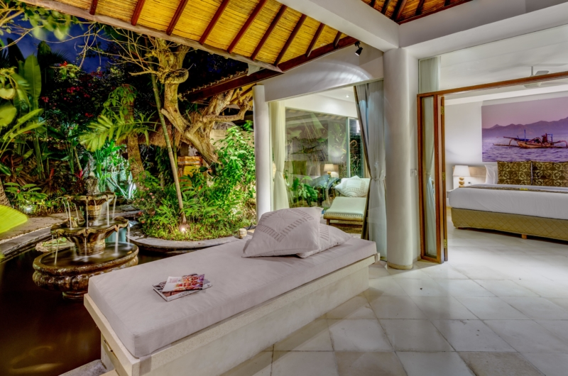Bedroom and Balcony at Night - Vitari Villa - Seminyak, Bali