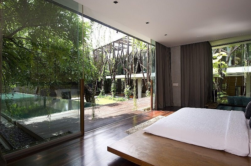 Bedroom with Pool View - Ziva A Residence - Seminyak, Bali
