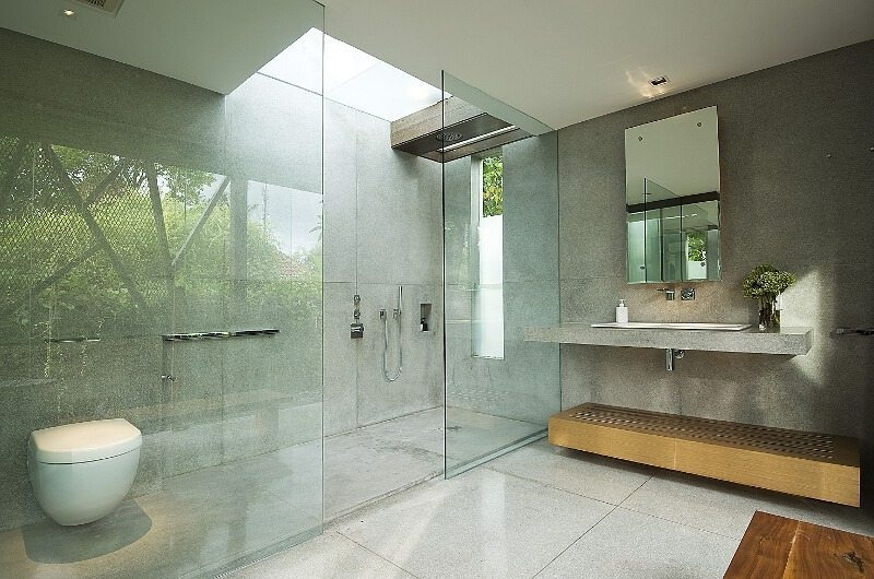Bathroom with Shower - Ziva A Residence - Seminyak, Bali