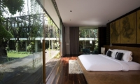 Bedroom with Wooden Floor - Ziva A Residence - Seminyak, Bali