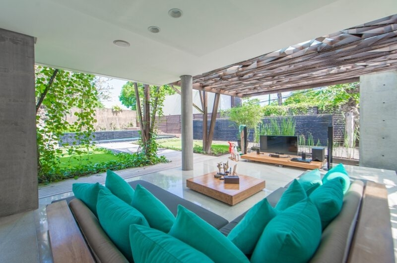 Living Area with TV - Ziva A Residence - Seminyak, Bali