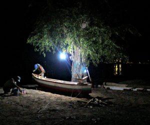 Gili Air Fishermen At Night