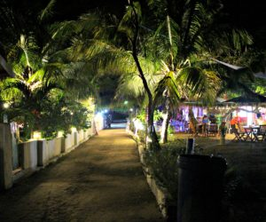 Gili Air Road At Night