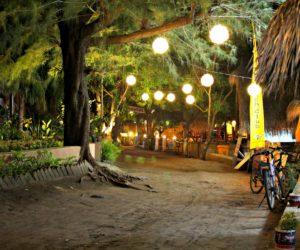Gili Air Road With Lanterns