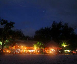 Gili Meno Bar At Night