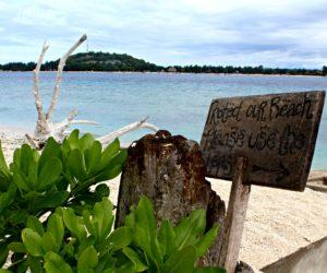 Gili Meno Beach Sign