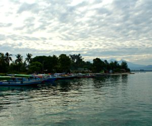Line Of Boats Gili Air