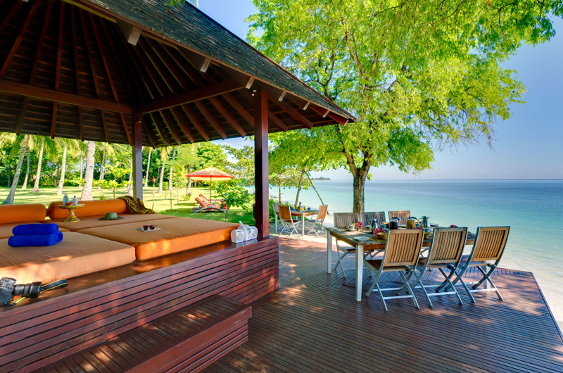 Beach Side Seating Area - Villa Anandita - Lombok, Indonesia