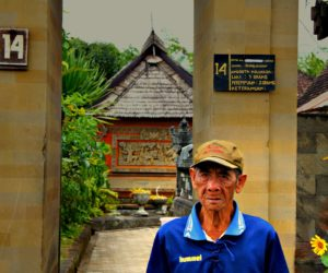 Man In Front Of Entrance Penglipuran Village