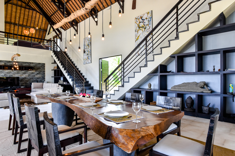 Living and Dining Area with Up Stairs- Bali Il Mare - Pemuteran, Bali