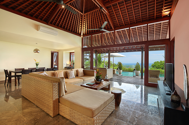 Living Area with TV - Hidden Hills Villas Villa Grande - Uluwatu, Bali