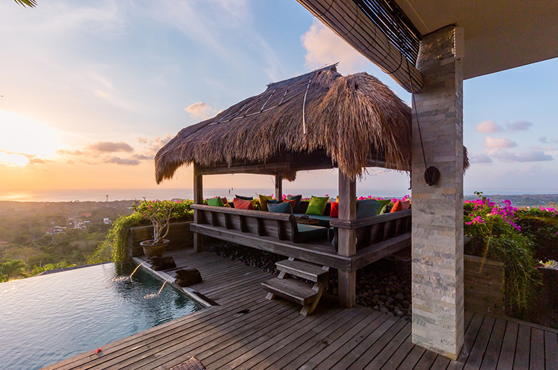 Pool Side Seating Area - Hidden Hills Villas Villa Raja - Uluwatu, Bali