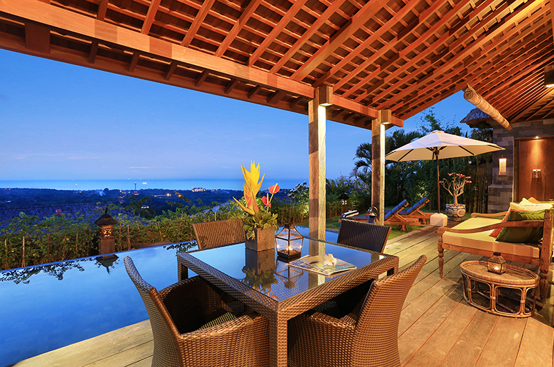 Pool Side Dining - Hidden Hills Villas Villa Sekapa - Uluwatu, Bali