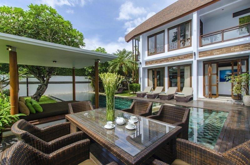 Pool Side Dining - Mary's Beach Villa - Canggu, Bali