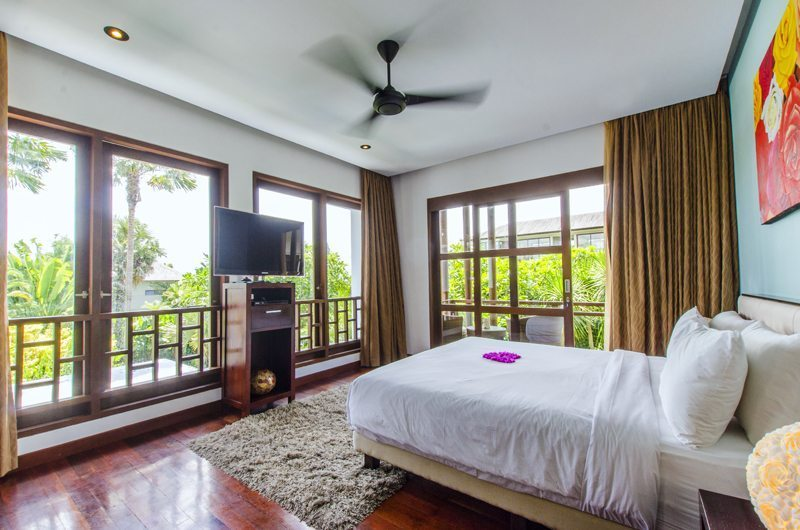 Bedroom with TV - Mary's Beach Villa - Canggu, Bali