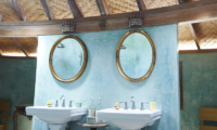 His and Hers Bathroom - The Island Houses - Round House - Seminyak, Bali