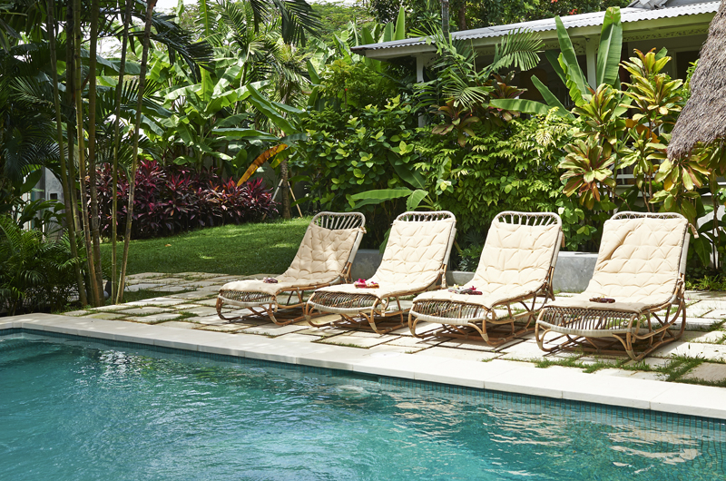 Sun Beds - The Island Houses - White House- Seminyak, Bali