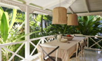 Dining Area with Garden View - The Island Houses - White House- Seminyak, Bali