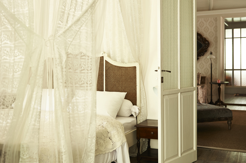 Bedroom with Mosquito Net - The Island Houses - White House- Seminyak, Bali