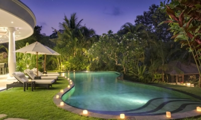 Pool at Night - Uma Wana Prasta - Canggu, Bali