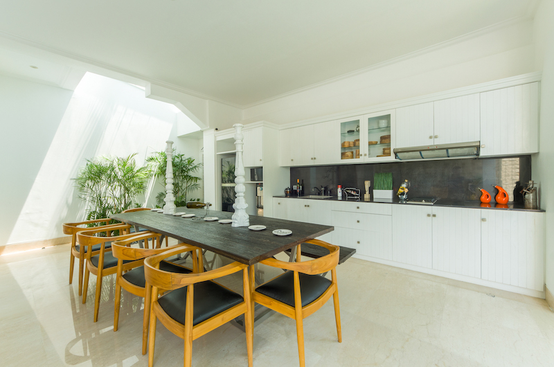 Kitchen and Dining Area - Villa Bianca Canggu - Canggu , Bali